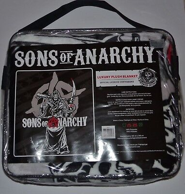 HEAVY WEIGHT SAMCRO OFFICIALLY LICENSED CONTRABAND SONS OF ANARCHY BLANKET