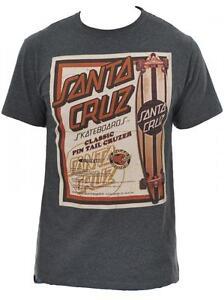 Santa-Cruz-Tee-Skateboard-T-Shirt-Cruzer-Charcoal-Heather-XXL-ADULT