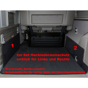fu matten laderaum seitenteppich set vw t6 t5 california. Black Bedroom Furniture Sets. Home Design Ideas