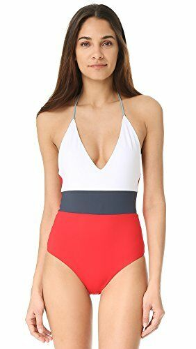 Tavik White bluee Red Chase One-Piece Swim Suit, Size M