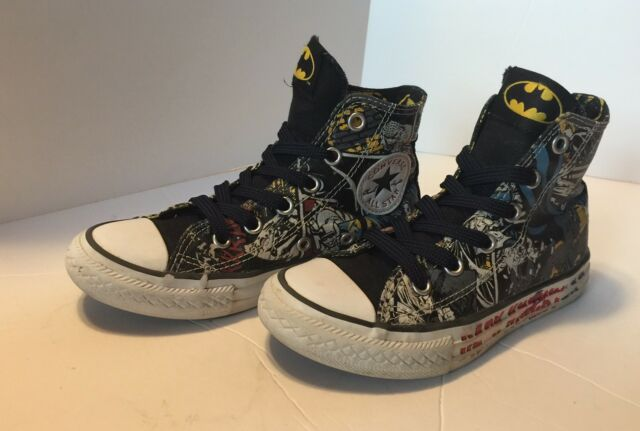 f062af3d787045 Converse Chuck Taylor All Star High Top Size 12 Youth Batman D.C. Sneakers