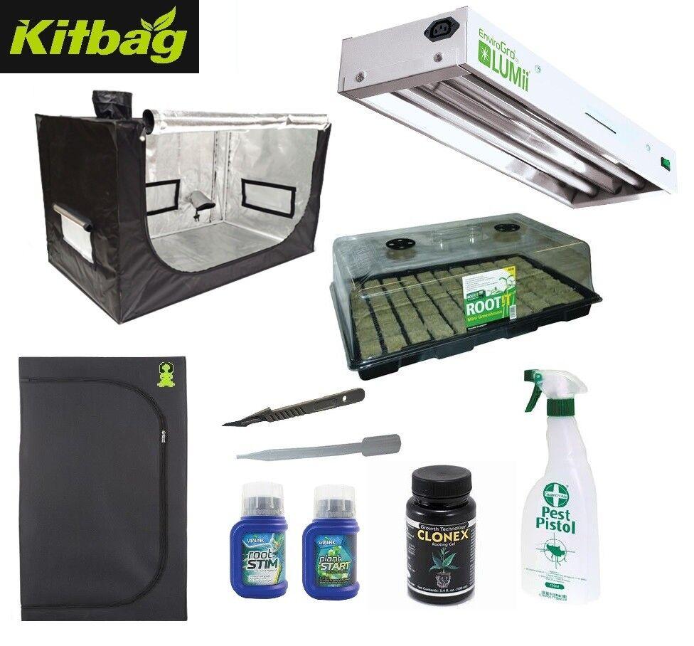 2-in-1 Budda MINI Cutting Seed Propgation Indoor Growing Room Tent Kit Clonex