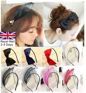 differently 868fd 0826d Handmade Satin Alice Band Headband With Bow Hair Band Hair Accessories  Accessoires pour cheveux