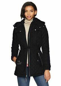NWT TOMMY HILFIGER WOMEN'S BLACK DIAMOND QUILTED ZIP UP ...