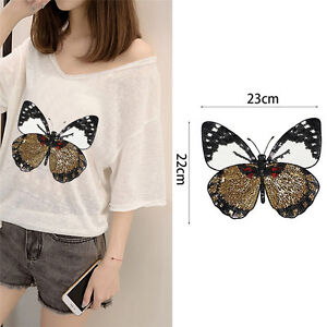 Iron-On-Patch-Embroidered-Applique-Shirt-Pants-Sewing-on-Holes-Butterfly-M-amp-C