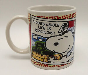 Image Is Loading Snoopy Peanuts A Dogs Whole Life Ridiculous
