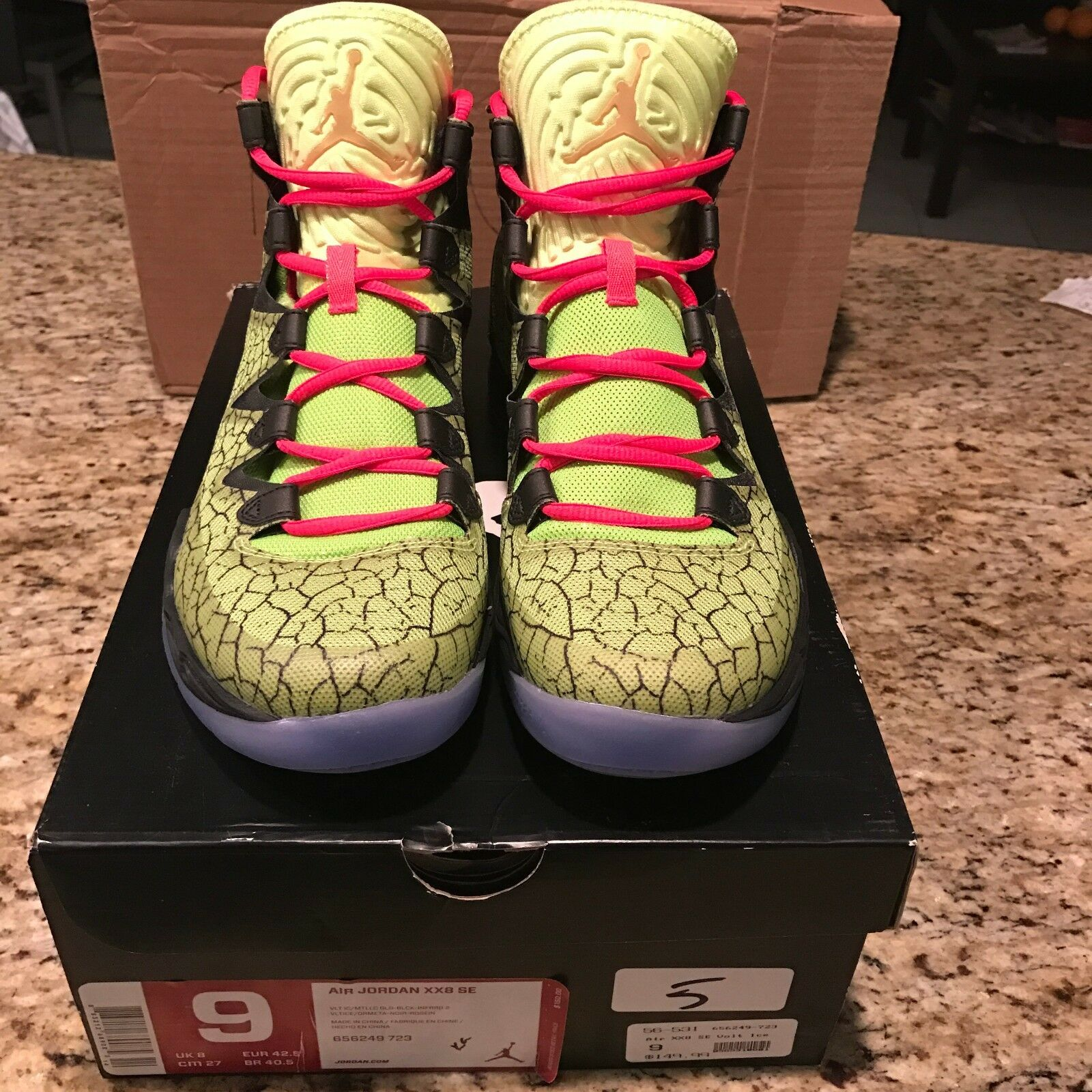 Nike air jordan xx8 se all - star - - volt - eis metallisches gold - - 23 656249 723 sz - 9. 0a133a