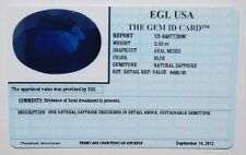 EGL USA TESTED&CERTIFIED NATURAL OVAL BLUE SAPPHIRE 2.43CT. APPRAISED VALUE $660