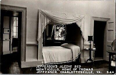 Rppc Jefferson S Alcove Bed Monticello Charlottesville Va Vintage Postcard J40 Ebay