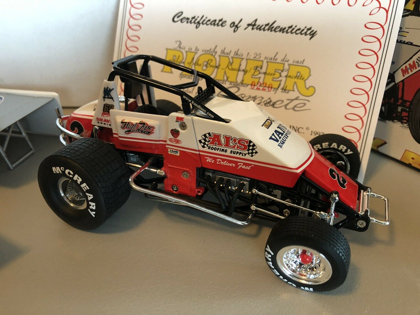 Gmp Brent Karding  2m 1 25 Scale Pioneer Concrete Sprint voiture