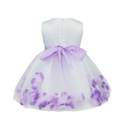 Baby Petals Flower Girl/'s Birthday Pageant Wedding Bridesmaid Party Tulle Dress