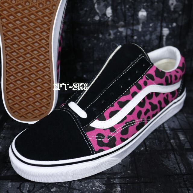 fec0d525c4 VANS Old Skool Leopard Pink black Men s Classic Skate Shoes Size 9 ...