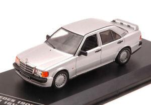 Mercedes-190e-2-3-16v-1988-Silver-1-43-Model-WB246-WHITEBOX