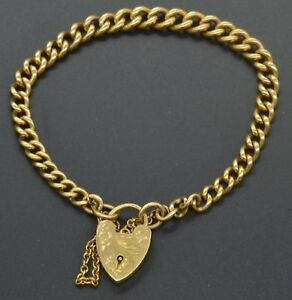 9k Yellow Gold Vintage Heart Lock Charm