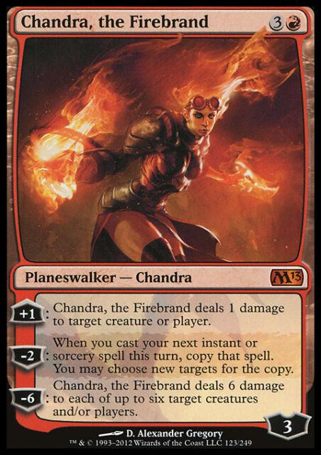 1 PLAYED Chandra Red Magic 2014 m14 Mtg Magic Mythic Rare 1x x1 Pyromaster