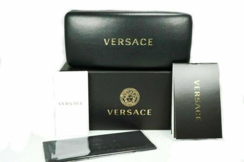 NEW VERSACE VE2180 10006G Silver Light Gray Mirror Unisex Sunglasses Authentic