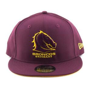 Brisbane-Broncos-New-Era-Cap-NRL-9Fifty-Flat-Brim-Hat-In-Maroon-and-Yellow
