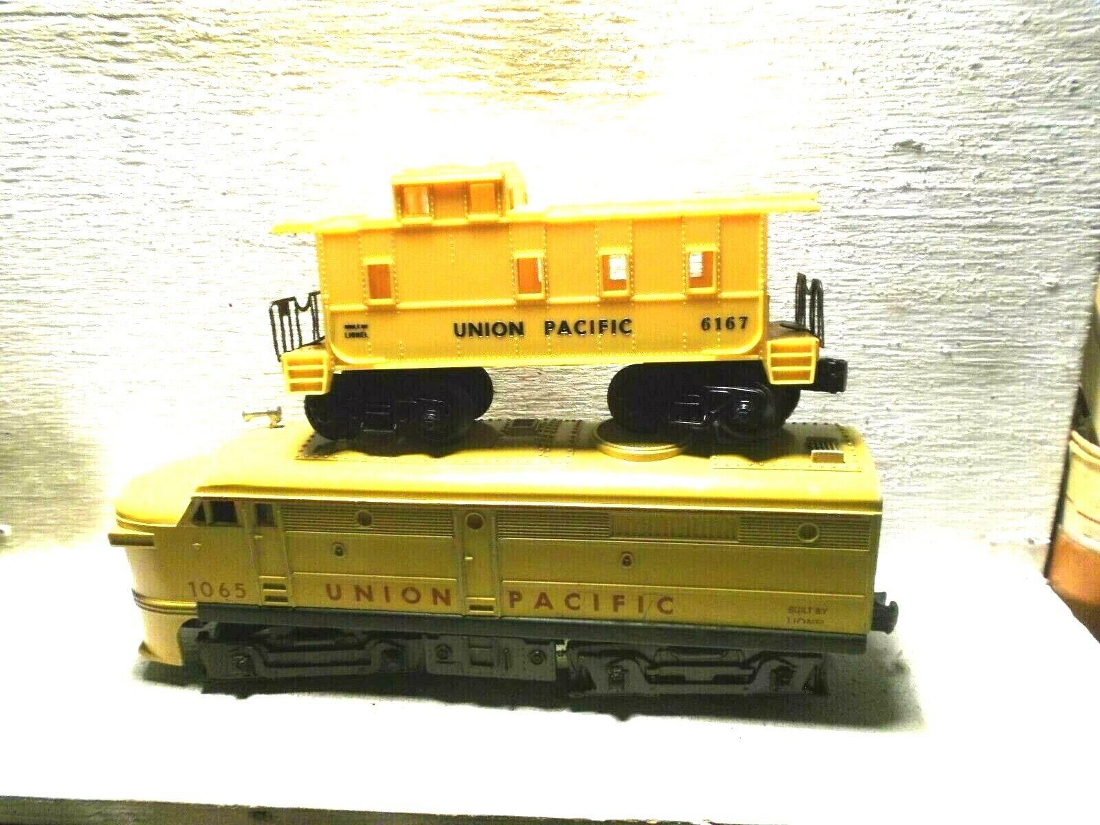 Lionel 1065 Alco- Looks&Runs Great  2 Pos E Unit-6167 Postwar UP Caboose-Exc