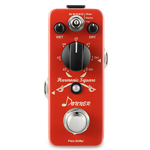 Donner-Digital-Octave-Guitar-Effect-Pedal-Harmonic-Square-7-modes-Local-Shipping