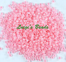 Toho Size 8//0 Round 3mm Seed Beads Ceylon Frosted Innocent Pink 10g L47//5