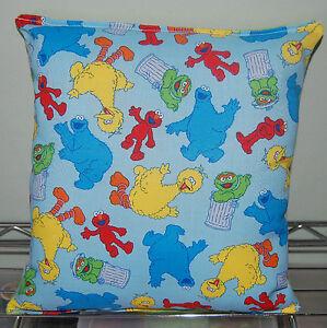 Sesame-Street-Pillow-Elmo-Oscar-Big-Bird-Rare-Pillow-Handmade-In-USA-RARE