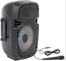 """Sistema De Sonido Ibiza Batería portátil 8"""" 300W USB Bluetooth FM Y Micrófono Dj Karaoke"""