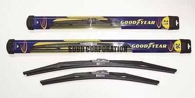 Goodyear Hybrid Wiper Blade Set 2 Front Blades fits 2012-2014 Audi A6 Quattro