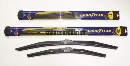 2004-2008 Mitsubishi Endeavor Goodyear Hybrid Style Wiper Blade Set of 2
