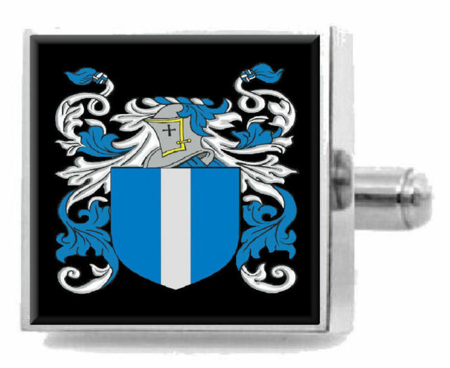 Select Gifts Lockhart Scotland Family Crest Surname Coat Of Arms Cufflinks Personalised Case