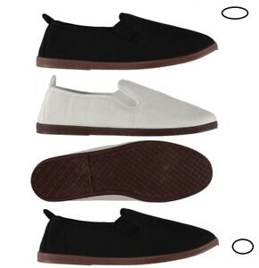 SLAZENGER-Mens-Kung-Fu-Canvas-Slip-on-Pumps-Shoes-Espadrilles-Plimsolls-Sz-7-11