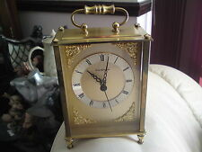 QUARTZMASTER GERMAN CARRIAGE/MANTEL CLOCK, FREE-MAILING.
