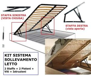 Kit Per Letto Contenitore.Kit Sistema Sollevamento Letto Contenitore Pistoni 500n 750n