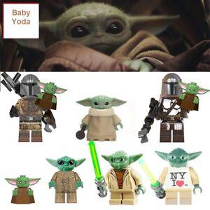 STAR-WARS-The-Mandalorian-BABY-YODA-lego-CUSTOM-Minifigure-Building-Blocks