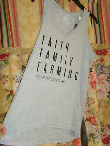 "Turnrows Tee Shirt /""LOVE MY FARMER /"" Gray Shirt Size M Farm Girl NEW"