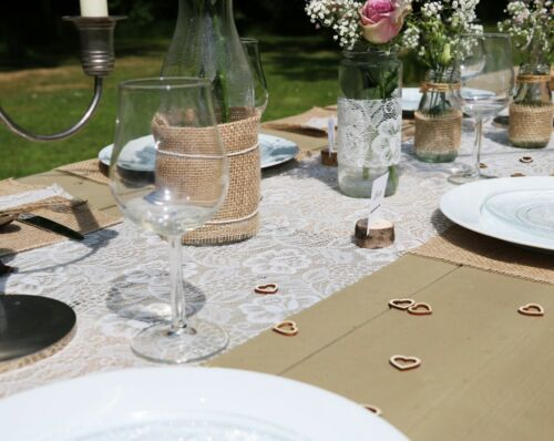 Tischläufer Tischband 30cm//5m Fig // FEIGE 3650 SIZOLACE ® ROSE Spitzen -Optik