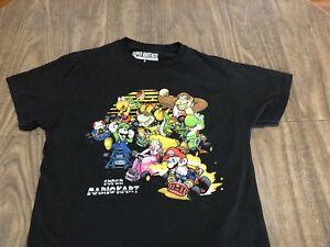 Super-Nintendo-Video-Game-Mario-Kart-Retro-Style-Small-Black-T-Shirt
