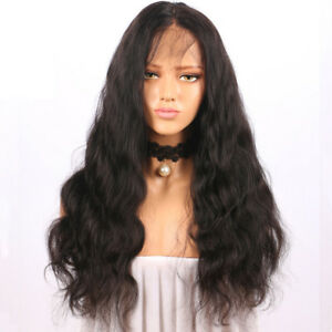 Curly Glueless Full Lace Front Natural Wigs Black Women Indian Remy ... f683767b9b