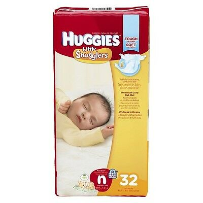 HUGGIES® Little Snugglers Diapers Jumbo Pack Size Newborn (32 Count)
