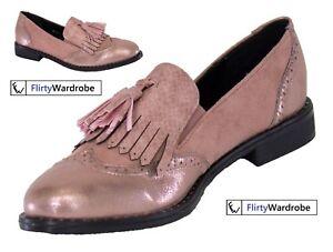 Detalles de Zapatos Planos Mocasines Con Borlas Flecos Recorte Lindo Elegante Oficina Zapatos en Rosa para Mujer ver título original