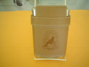 LOUDOUN-GOLF-amp-COUNTRY-CLUB-LIQUOR-FLASK-STAINLESS-LEATHER-PURCELLVILLE-VA