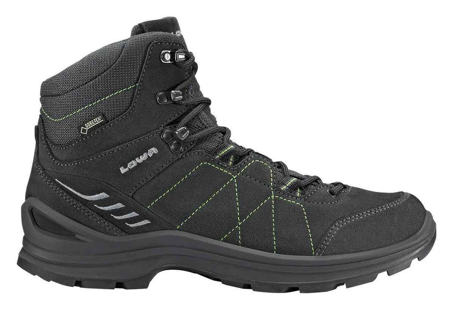 Lowa Men's Trekking shoes  Tiago GTX mid all Terrain Anthracite Lime  support wholesale retail