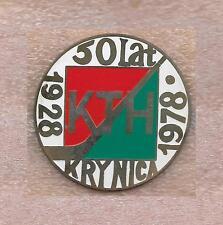 ZAWSZE KTH KRYNICA 50 YEAR ANNIVERSARY HOCKEY CLUB POLAND OFFICIAL PIN