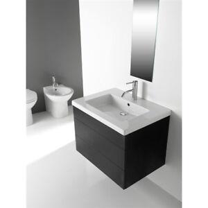 Lavandino lavabo consolle bagno modello capri ceramica bianco varie misure ebay - Misure lavandino bagno ...