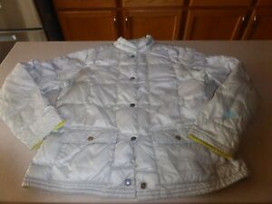 Eddie-Bauer-EB-550-Goose-Down-Lightweight-Jacket-Coat-Womens-sz-L-Large