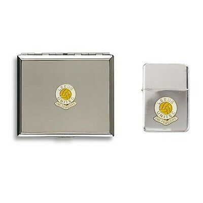 Leeds United football club lighter cigarette case gift set