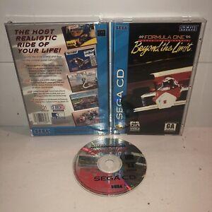 Formula-One-Beyond-The-Limit-Sega-CD-Game-CIB-Complete-Case-Manual-TESTED-Works
