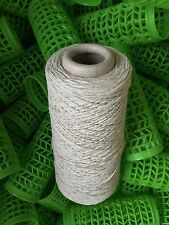 100% Cotton 4ply Dish Cloth Yarn On 600 Gram Cone In Natural Cream. Sale Save £1