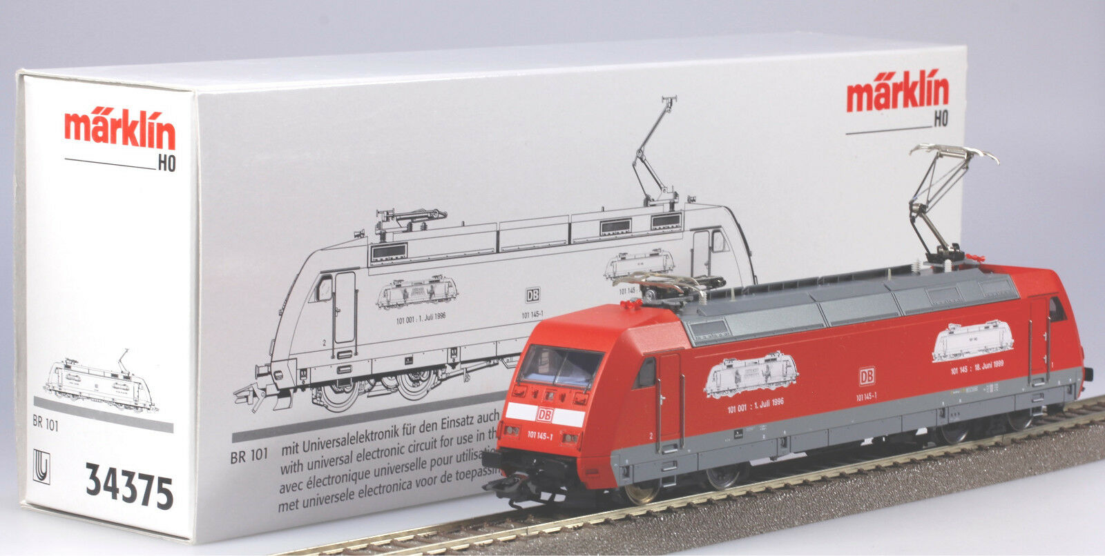 Märklin #34375 HO Delta Digital DB Class BR101 Starlight Express Loco, New/Box