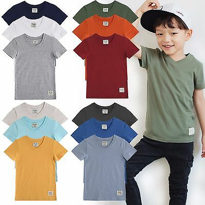 "Vaenait Baby 3Pack Toddler Kids V neck Round Neck Top T-Shirt /""Basic Boys/"" 2-7T"