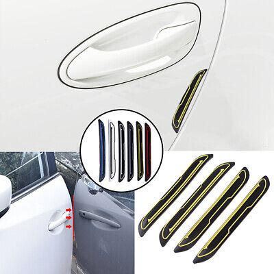 Grebest Car Door Edge Guards External Decoration Car Sticker 4Pcs Car Vehicle Door Edge Scratch Collision Guard Strip Protector Sticker Decor White